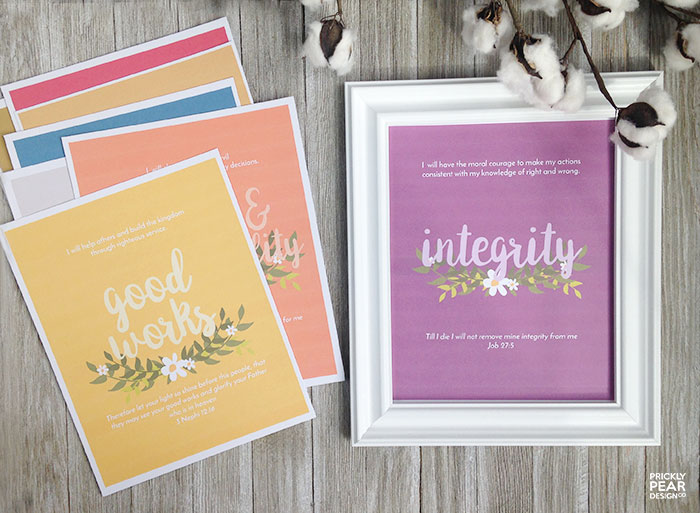 Young Women Value Posters – FREE 8×10 Printables Perfect for Evening in Excellence & New Beginnings!