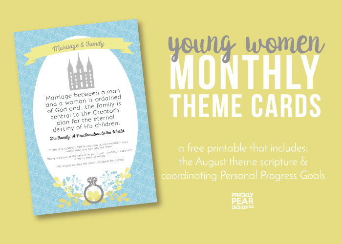 Young Women Come Follow Me Monthly Theme | Marriage & Family | YW FREE Printable