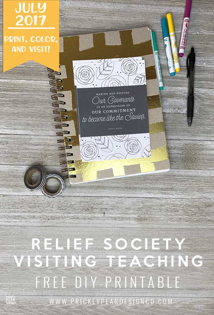FREE Relief Society Visiting Teaching Printable for July 2017 | That They May Be One